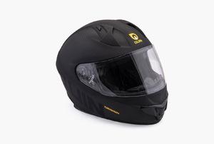 black full-face helmet