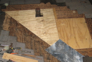 Differing layers of roofing materials
