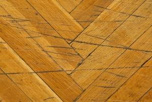 scratched hardwood