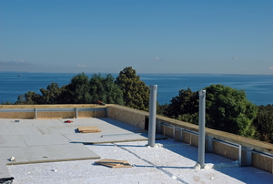 building concrete roof