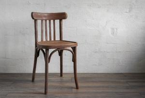 wood chair on a wood floor