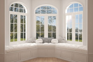 bay windows on a sunny day