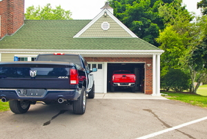 A house with an attached garage.