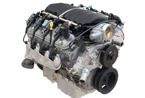 An engine on a white background.