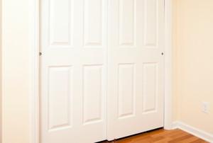 white sliding closet doors