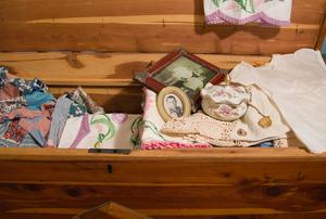 Cedar chest full of memorabilia