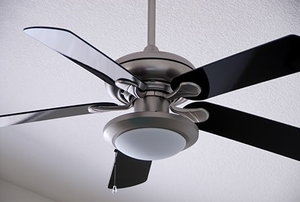 Brushed Metal Ceiling Fan