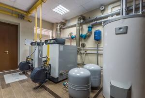 A boiler room.