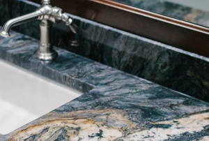 marble surrounding sink