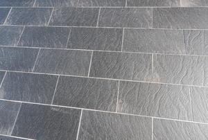 Slate floors.