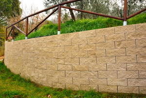 A retaining wall.