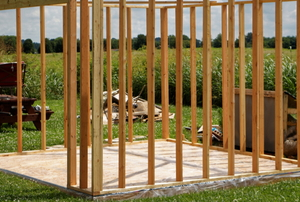 shed frame with foundation