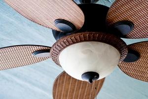 A ceiling fan.