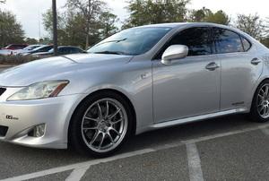 A silver car.
