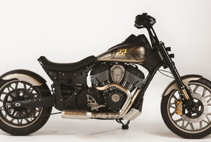 A black and gold motorcycle