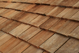 wood roof shingles