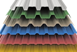 six colors and styles of steel siding