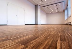 A linoleum floor.
