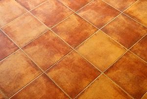 Terracotta tiles.