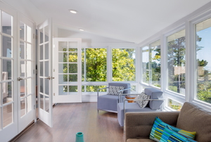 Sunroom with sparkling clean windows