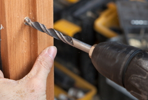 drilling into a door frame