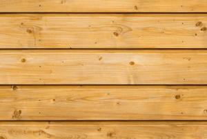 Plywood siding.