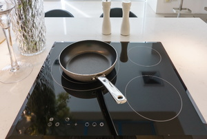 A glass cooktop.