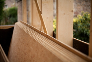 stack of exterior plywood
