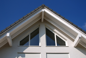 Peak of a home's roofline