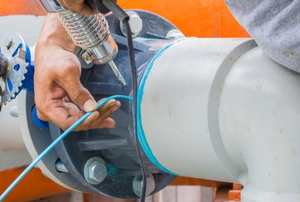 repairing plastic pipes with welded sealer
