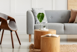 accent tables with stylish, natural furniture