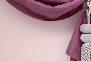 drapery with tied sash
