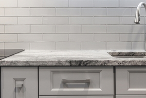 A kitchen with granite.
