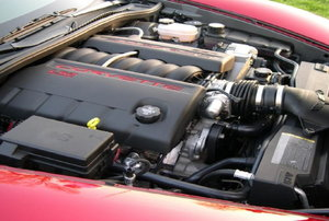 A car engine.