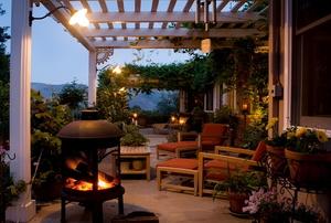 patio at dusk