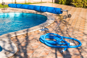 Pool, cover, and hoses