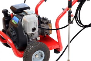 A gas pressure washer.
