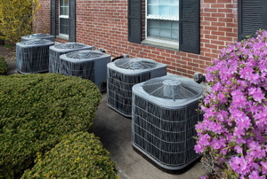 Air conditioning units in a row.