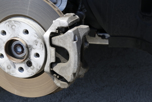 closeup of car Brakes