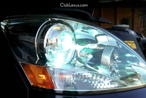 closeup of a car Headlight