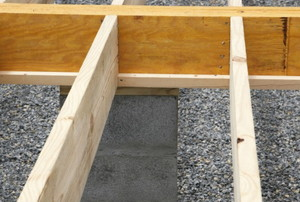 floor joists during construction