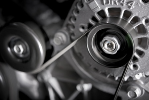 alternator inside an engine
