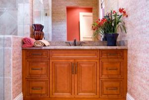 A bathroom vanity.