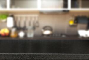 Black Formica countertop