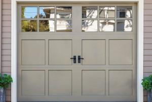 a garage door