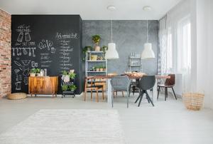 A designed room.
