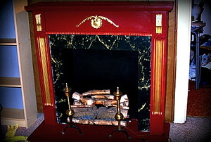 A beautiful faux fireplace