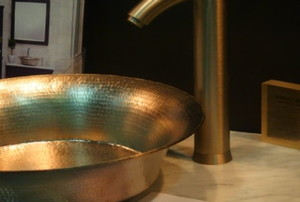 copper sink and spout