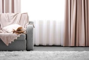 mauve curtains