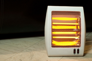 glowing halogen heater